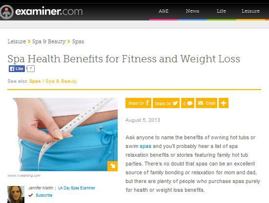 spa health benefits for fitness and weight loss
