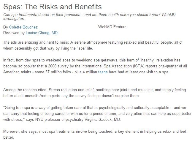 spas the risks and benefits